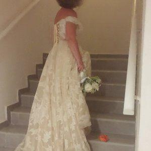 Cream Wedding Dress - Size 6